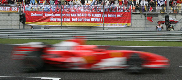 Michael Schumacher (Ferrari 248 F1) at Shanghai